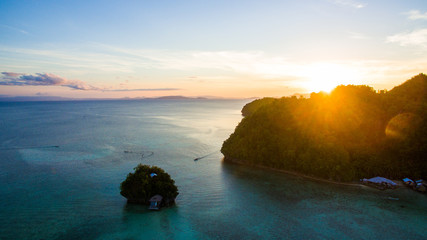 little planet tiny home island in pacific ocean live life abonded siargao sunset sundowner