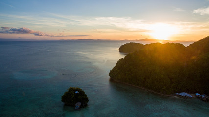little planet tiny home island in pacific ocean live life abonded siargao sunset sundowner aerial