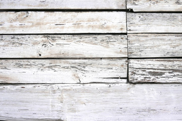 Wall Mural - White wood texture