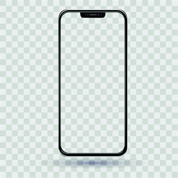 Smartphone with a transparent screen vector