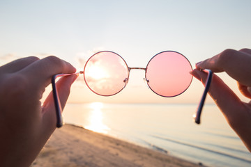 A look at the world through rose-colored glasses.