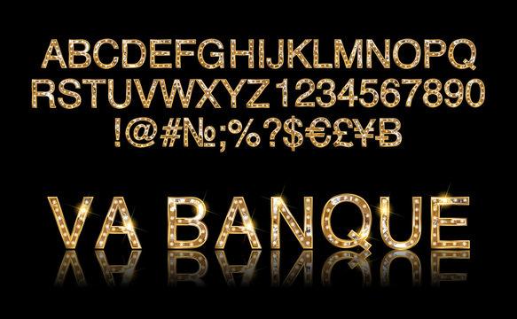 Vegas Casino or Retro Broadway Style Night Font.