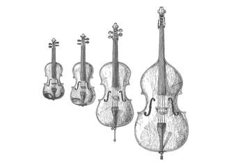 Obraz Bowed string instruments - fototapety do salonu