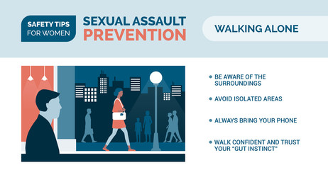 Sexual assault prevention: how to be safe when walking alone