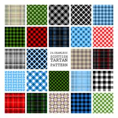 24 Tartan Seamless Pattern.