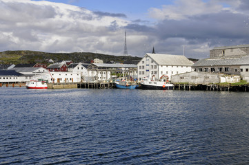 Photo Blinds Port Hafen im Berlevåg