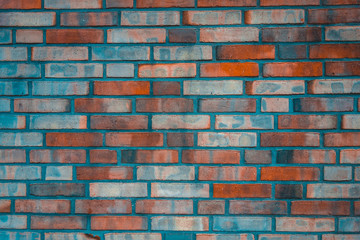 blue and red colored brick texture
