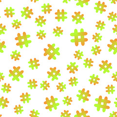 Hashtag icon seamless pattern. Hashtag random seamless pattern