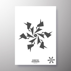 Poster Geometric animals Minimal geometric shape design for printing products