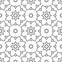 Oriental eight pointed stars seamless pattern.