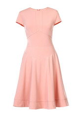 Peach dress isolated on white
