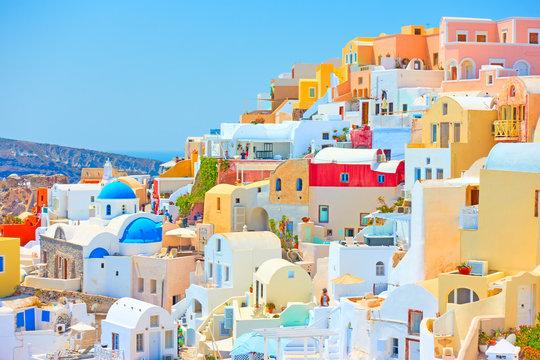 Santorini on sunny day