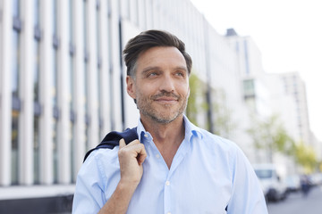Portrait of relaxed businessman with stubble