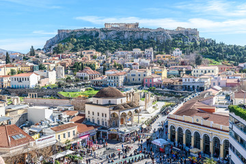 Acrylic Prints Athens Panoramic view of the Acropolis of Athens. Greece.