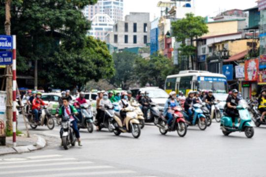 ベトナム ハノイ 交差点