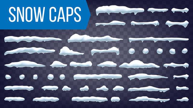 Snow Drift Vector. Winter Decoration Element. Realistic Snowdrift. Seasonal Snowfall Background. Isolated Illustration