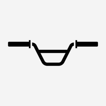 Outline beautiful bicycle handlebar vector icon