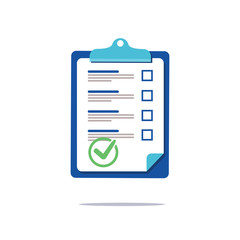 Prenuptial agreement document, check list clipboard sociology concept, questionnaire form, vector flat icon. Business