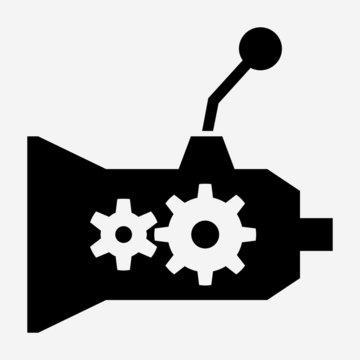 glyph beautiful automobile transmission vector icon