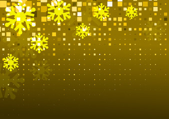 Gold Snowflakes Background