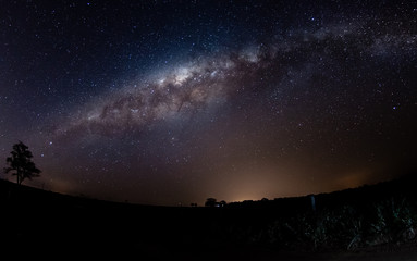 Milky Way registered in South America in the fall.