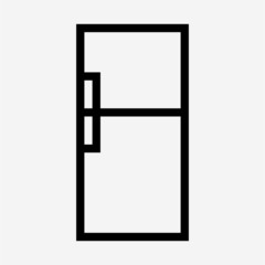 outline beautiful Refrigerator vector icon
