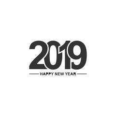 Vector image of Happy new year 2019.