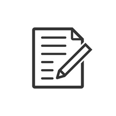 Document note icon in flat style. Paper sheet vector illustration on white isolated background. Notepad document business concept.