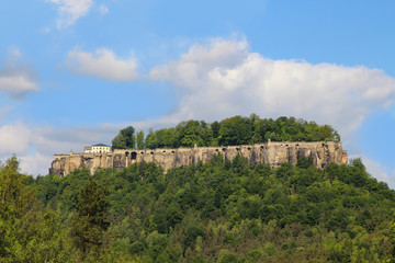 Fortress Königstein, Elbe Sandstone Mountains, Germany