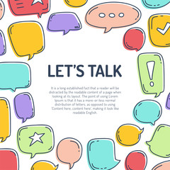 Vector illustration dialog speech bubbles