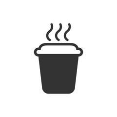 Coffee, tea cup icon in flat style. Coffee mug vector illustration on white isolated background. Drink business concept.