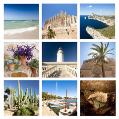The collage from views of Mallorca, Spain.