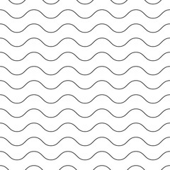 Wavy, zigzag, sinuous horizontal seamless lines background