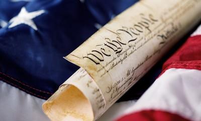 Roll of vintage US Constitution, Patriotism