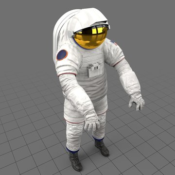 Z2 Spacesuit Zero Gravity Pose