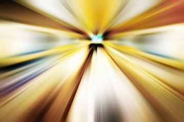 Colorful abstract speed lines texture background, radial motion blur / zooming effect (High-resolution 2D CG rendering illustration)