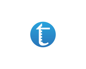 T letters logo and symbols template icons app