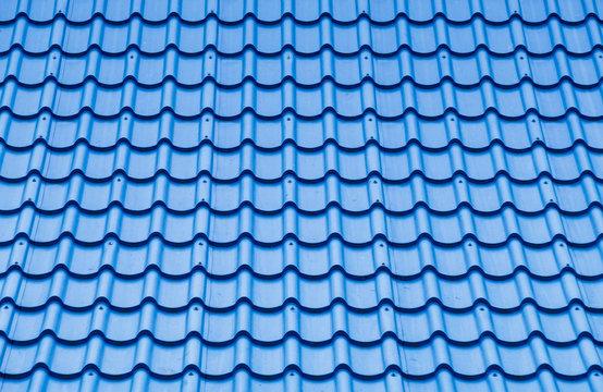 Blue roof tile pattern.