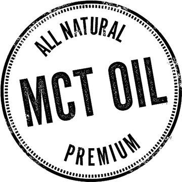 MCT Oil Ketogenic Diet Stamp
