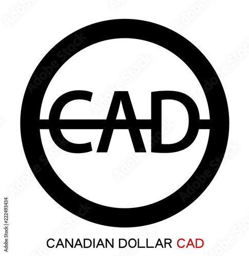 Vector Isolated Canadian Dollar Icon Canadian Dollar Sign On White