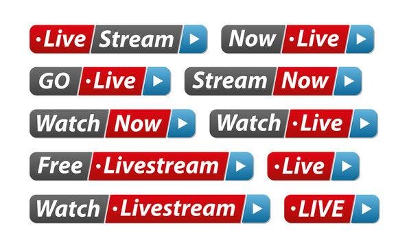 Livestream Buttonpack