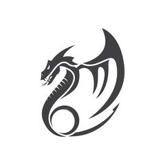 flat simple dragon vector illustrations logo designs