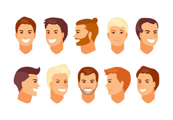 Male faces avatars