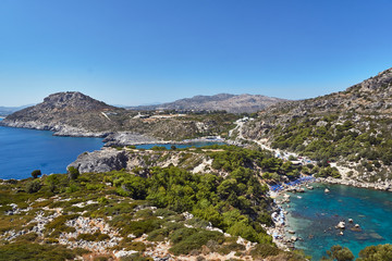 Anthony Quinn Bay on the island of Rhodes, Greece .