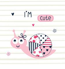 Cute snail vector illustration
