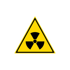 Radiation sign. Vector illustration, flat design.