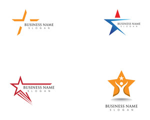 Star success logo and symbosl vector template