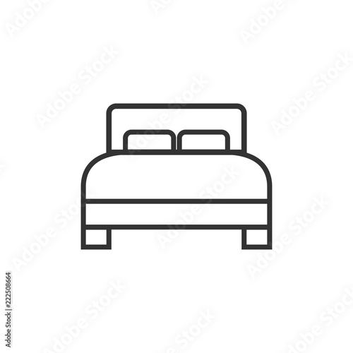 Bed Icon Vector Illustration Flat Design Stock Image And Royalty
