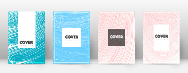 Cover page design template. Hipster brochure layout. Breathtaking trendy abstract cover page. Pink a