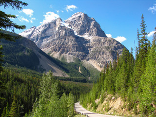 Majestic mountain at Spiral Tunnels Viewpoint, Yoho National Park, British Columbia, Canada